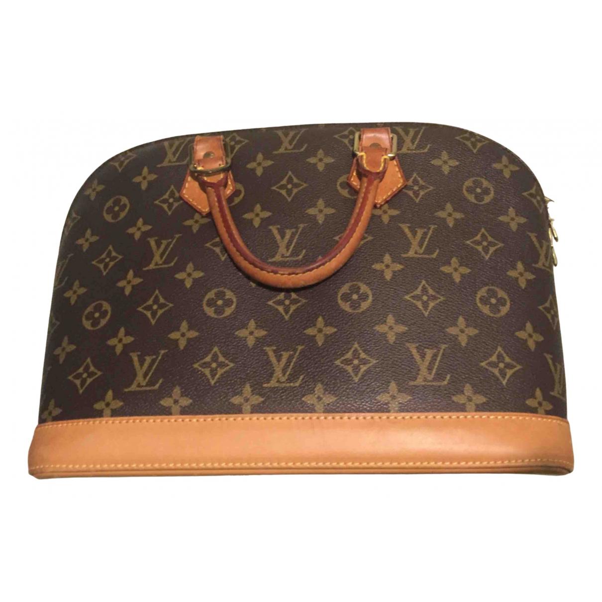 Louis Vuitton - Sac a main Alma pour femme en toile - marron
