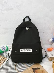 Men Letter Graphic Backpack