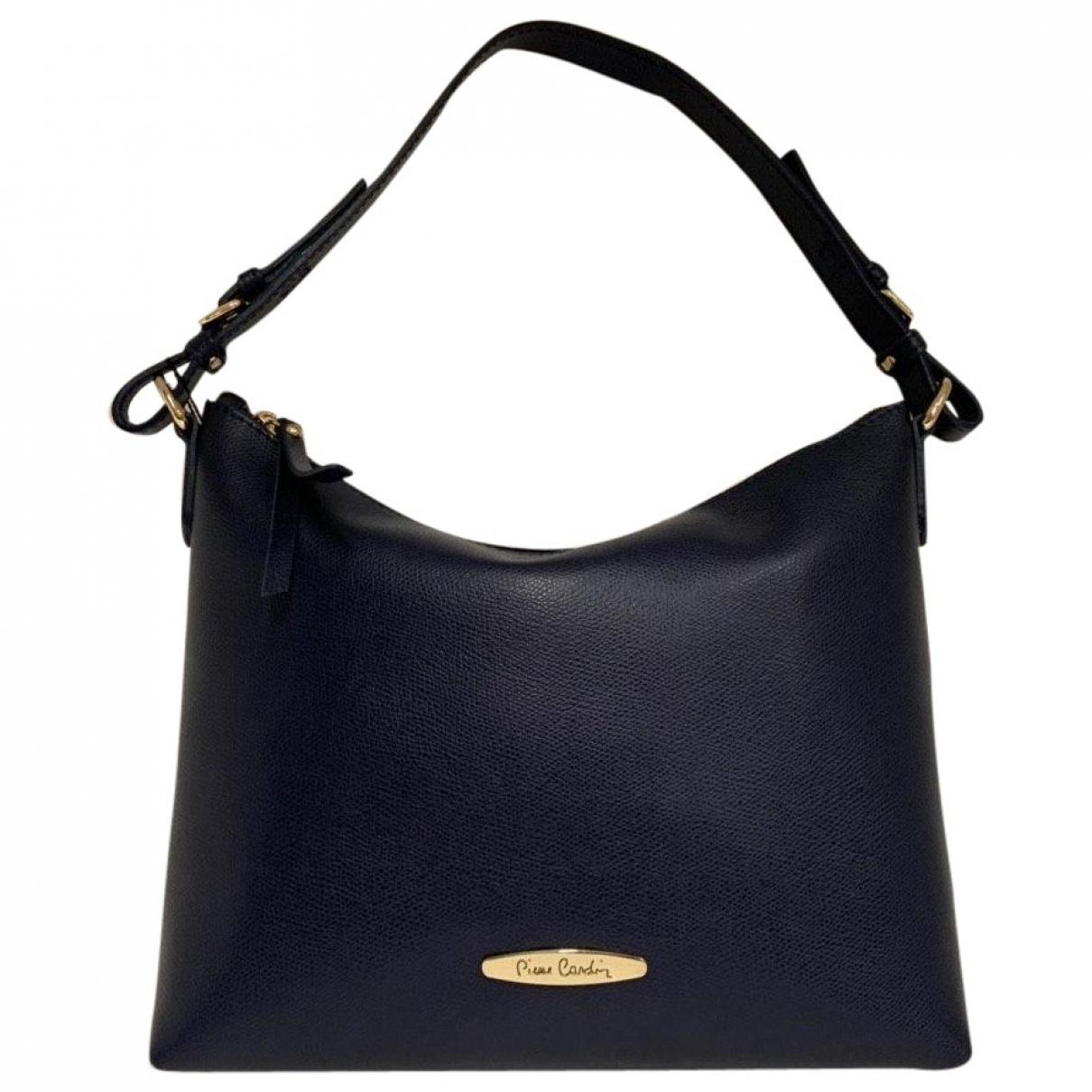 Pierre Cardin \N Handtasche in  Blau Leder