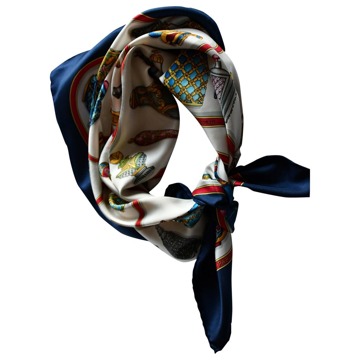 Hermes - Foulard Chale 140 pour femme en soie - marine