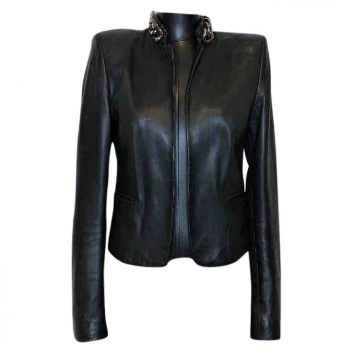 Philipp Plein \N Black Leather jacket for Women S International