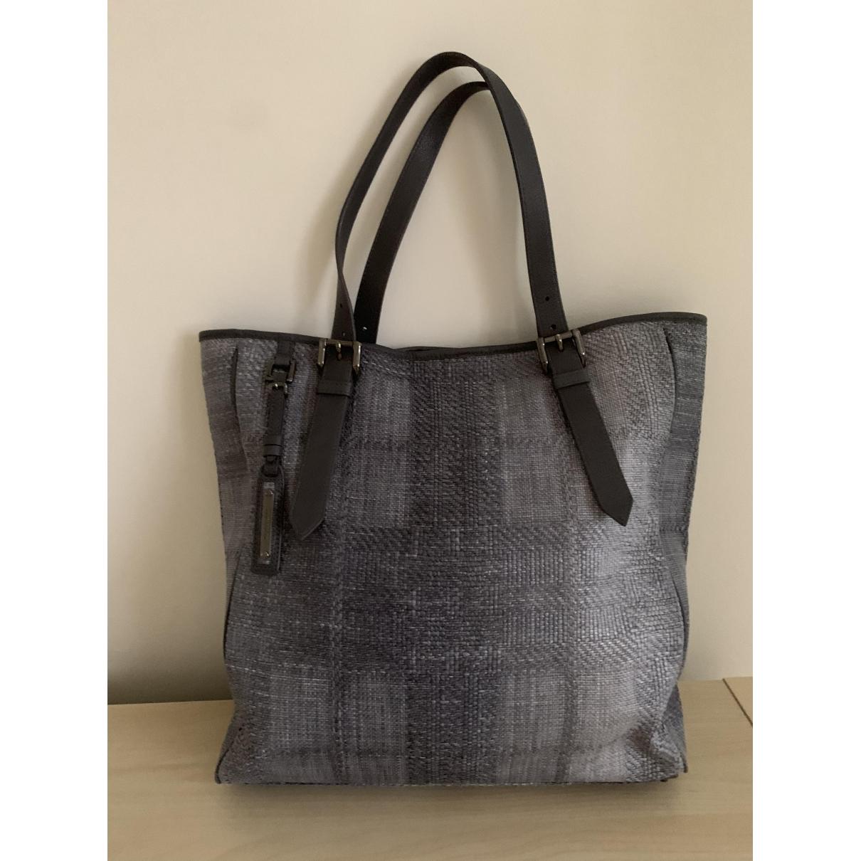Burberry \N Grey Cloth handbag for Women \N