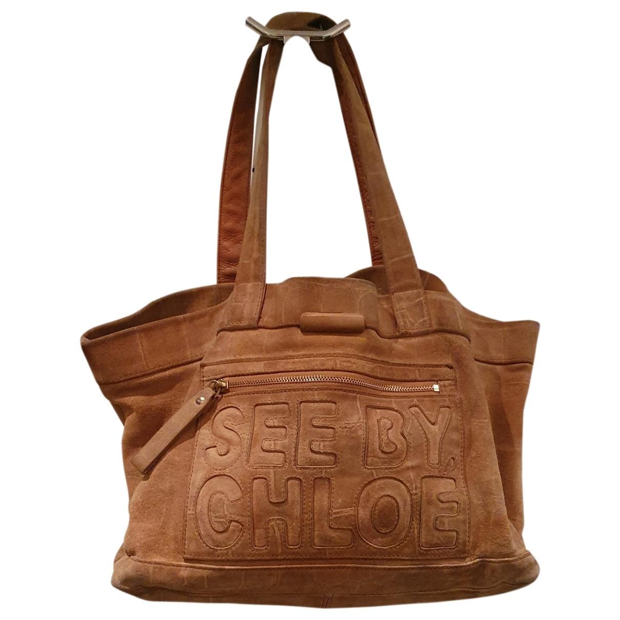 See By Chloé \N Camel Suede handbag for Women \N