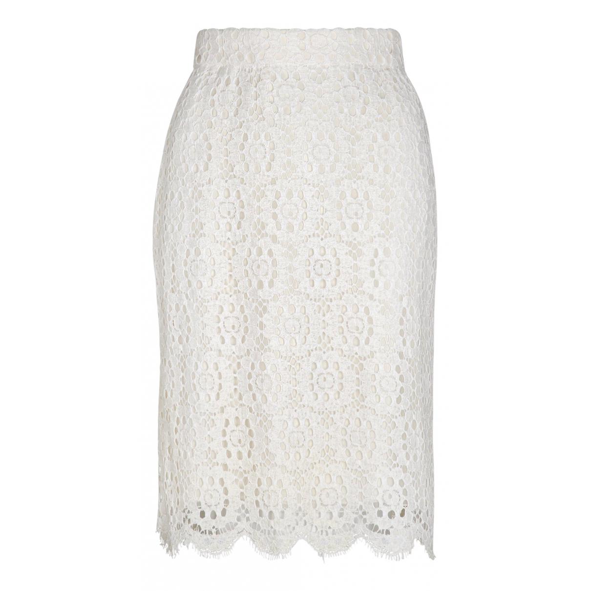 Dolce & Gabbana \N White Cotton skirt for Women 44 IT
