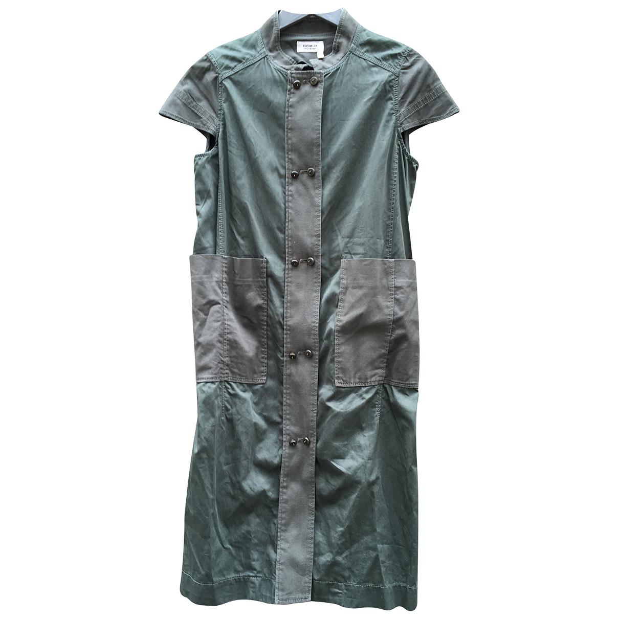 Yves Saint Laurent N Khaki Cotton dress for Women 38 FR