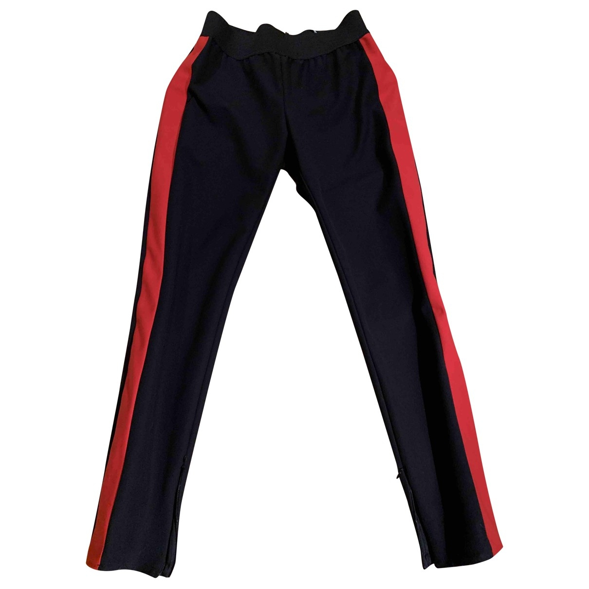 Stella Mccartney \N Black Cotton Trousers for Women 44 IT