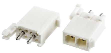 TE Connectivity , Mini-Universal MATE-N-LOK, 2 Way, 1 Row, Straight PCB Header (200)