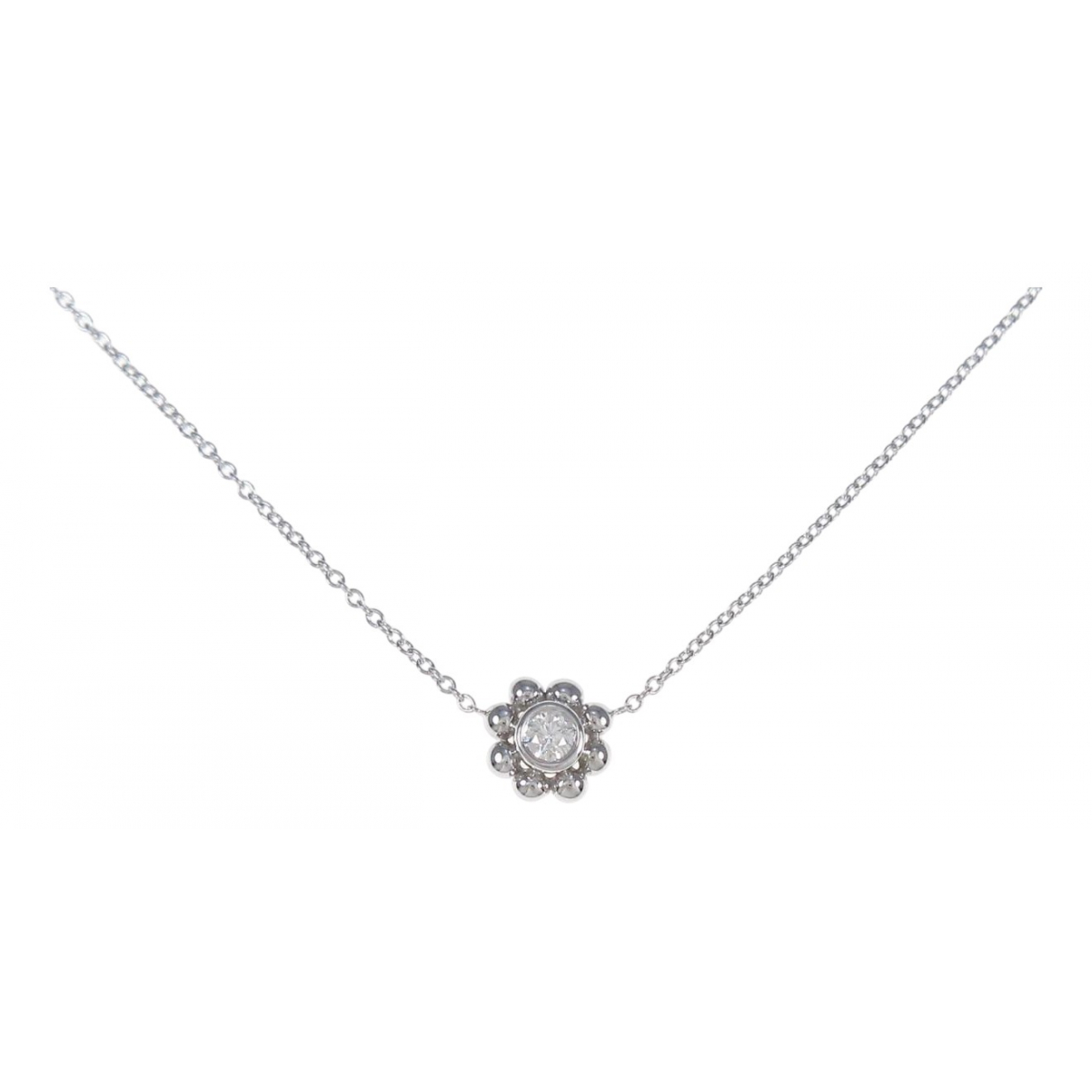 Tiffany & Co - Collier   pour femme en or blanc - argente