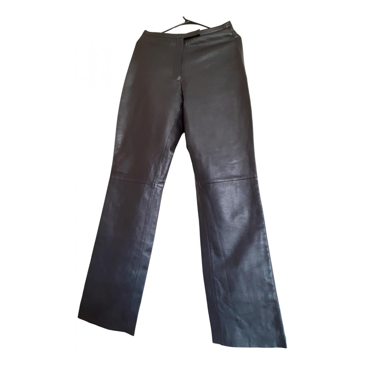 Pantalon recto de Cuero Non Signe / Unsigned
