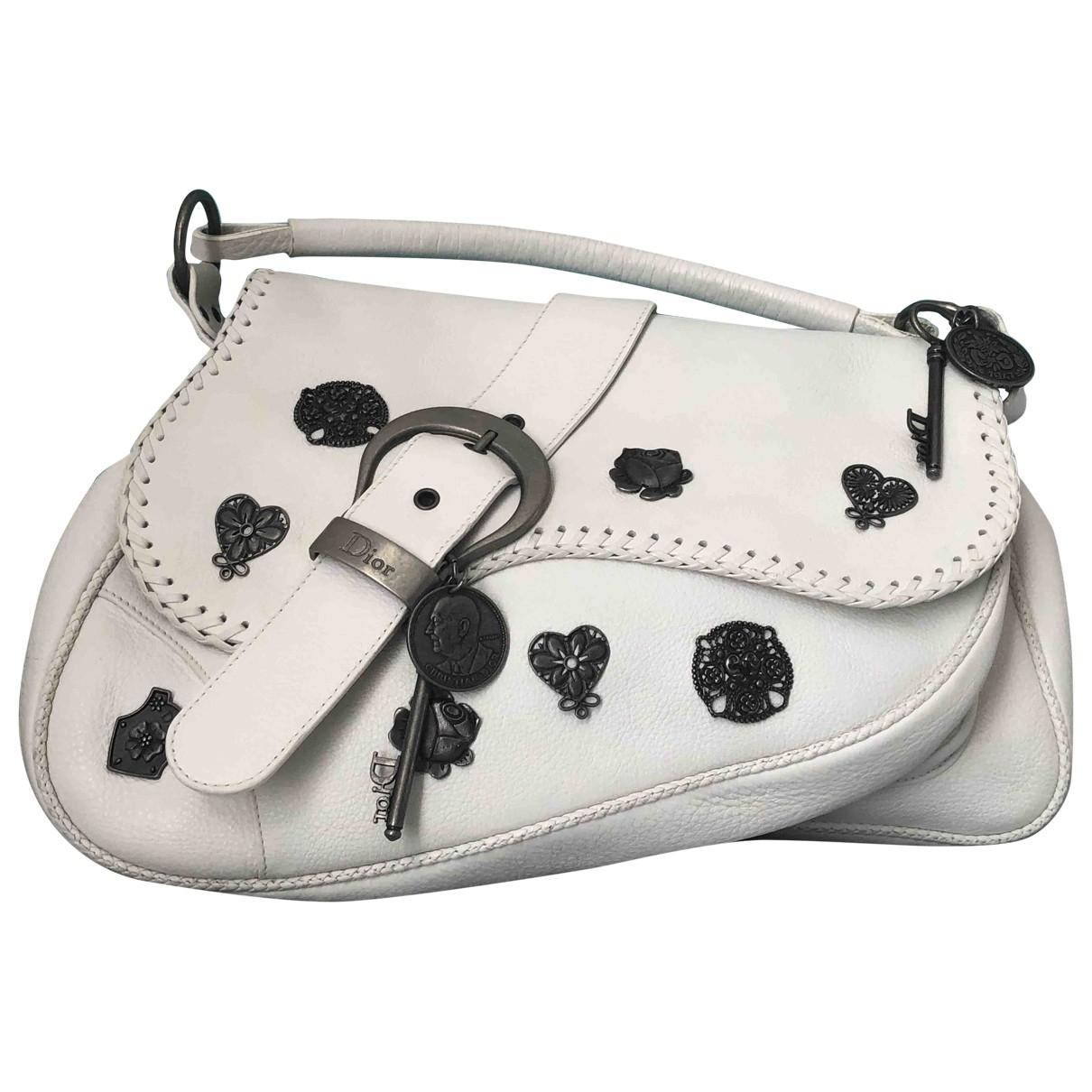 Dior Saddle White Leather handbag for Women \N