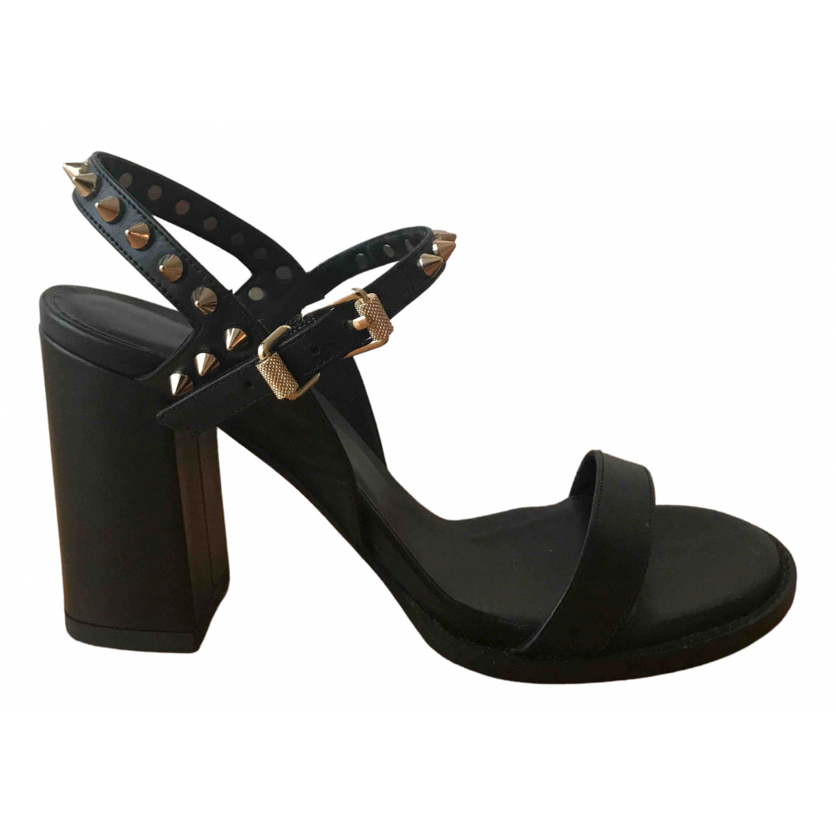 Zadig & Voltaire N Black Leather Sandals for Women 36 IT