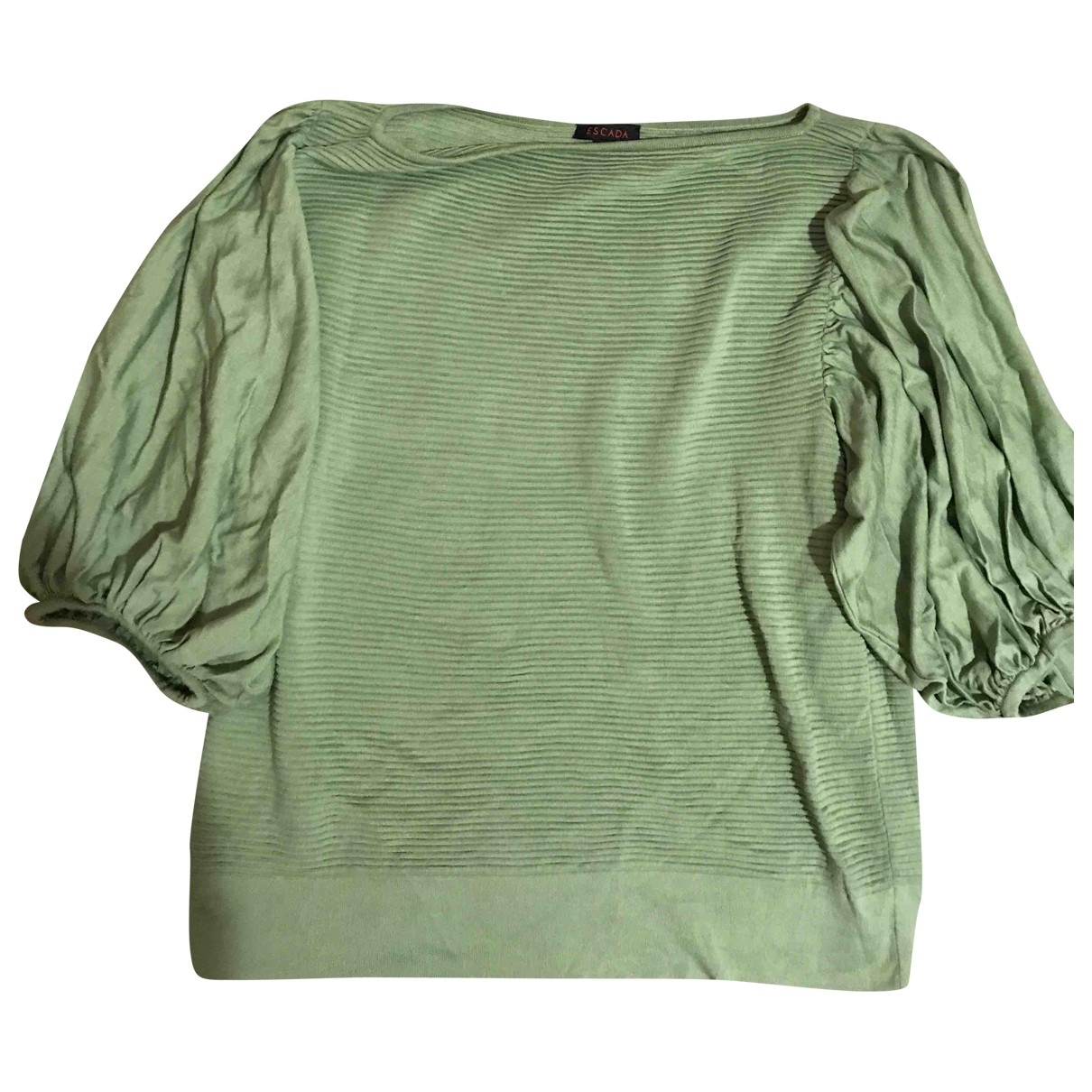 Escada \N Green Silk Knitwear for Women 44 IT