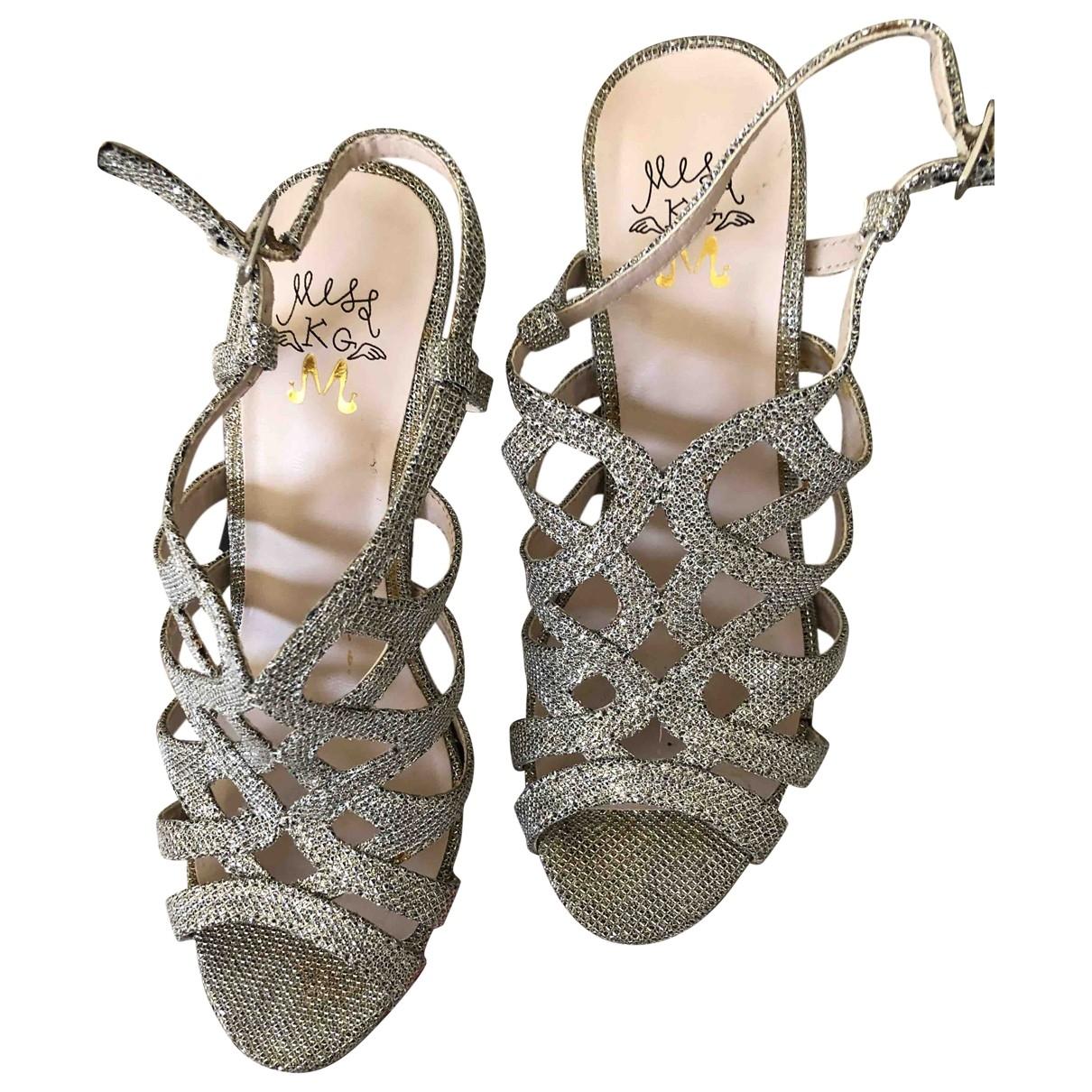 - Sandales   pour femme en a paillettes - argente