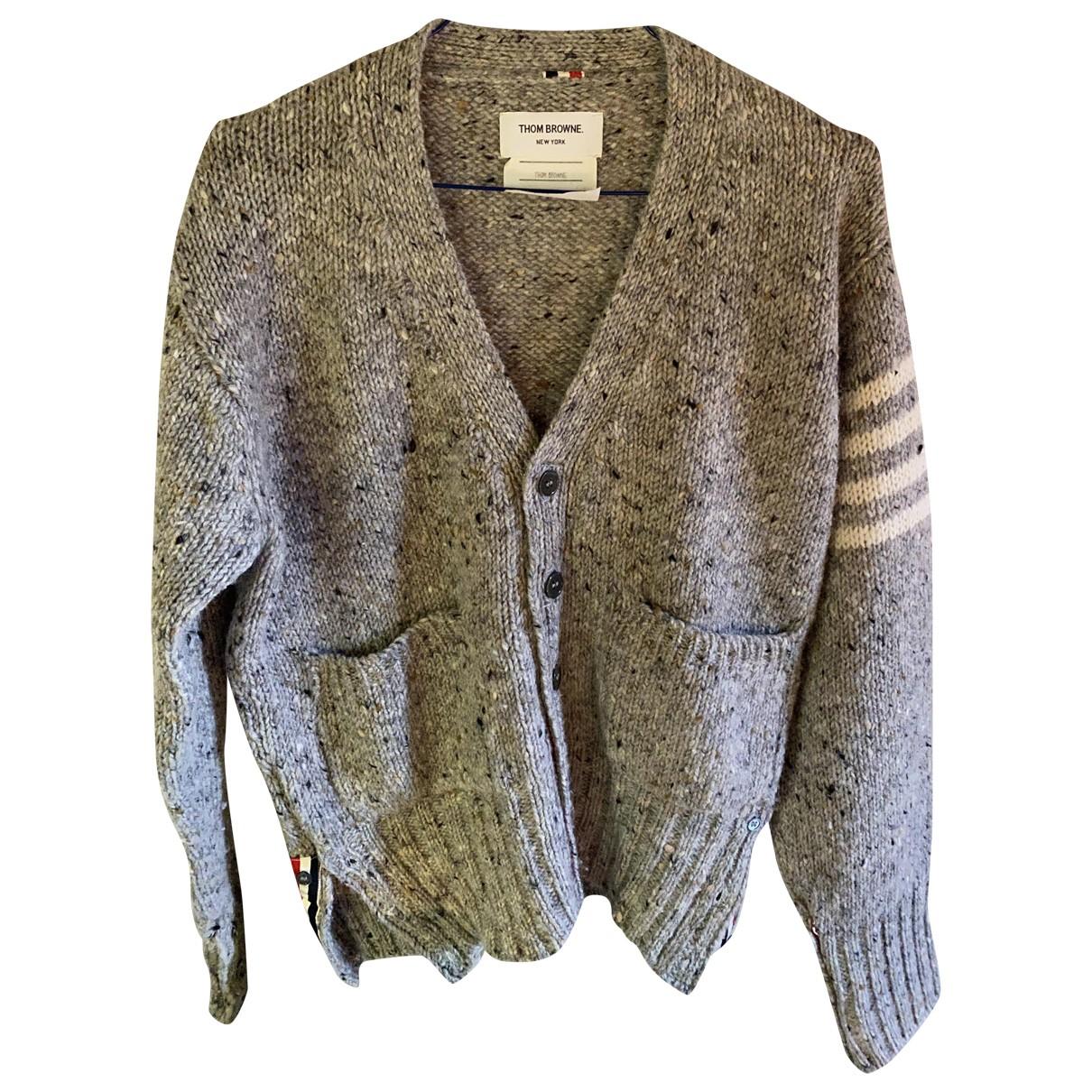 Thom Browne \N Pullover.Westen.Sweatshirts  in  Grau Wolle