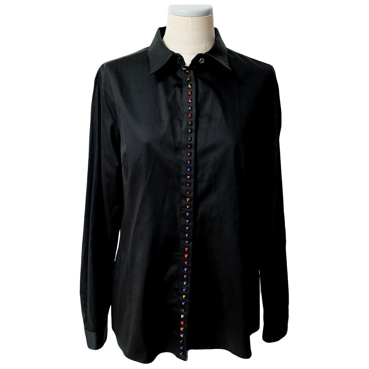 Gianni Versace N Black Cotton  top for Women 48 IT