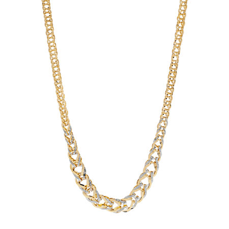 Womens 17 Inch 14K Gold Link Necklace, One Size , No Color Family