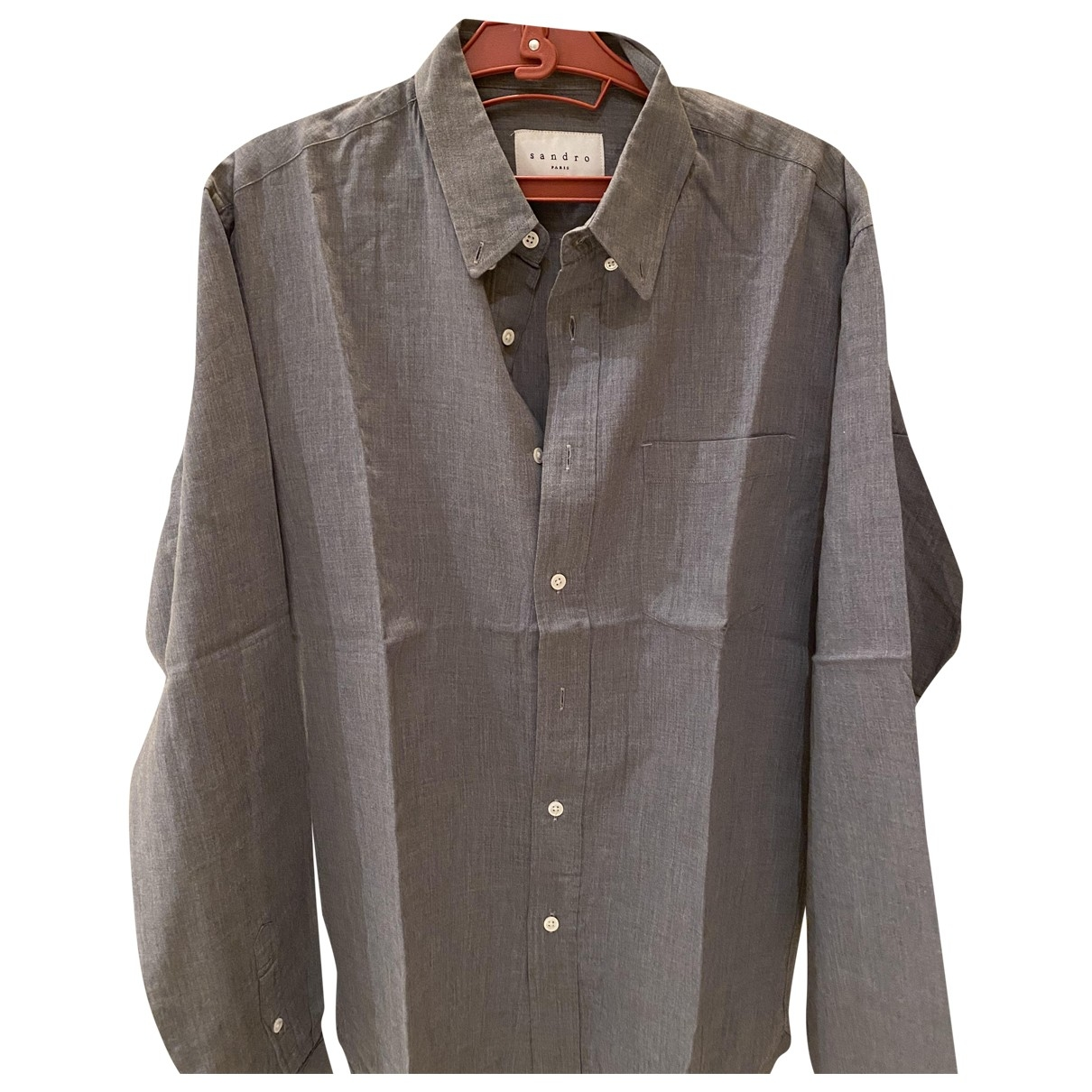 Sandro - Chemises   pour homme en coton - gris
