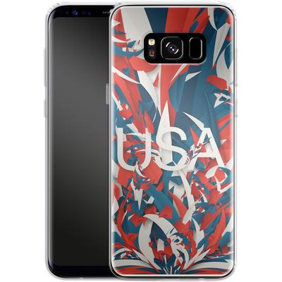 Samsung Galaxy S8 Silikon Handyhuelle - Colorful USA von Danny Ivan