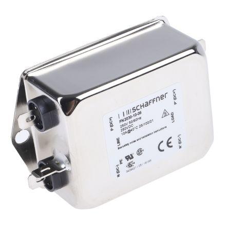 Schaffner , FN2030 10A 250 V ac 400Hz, Flange Mount RFI Filter, Tab