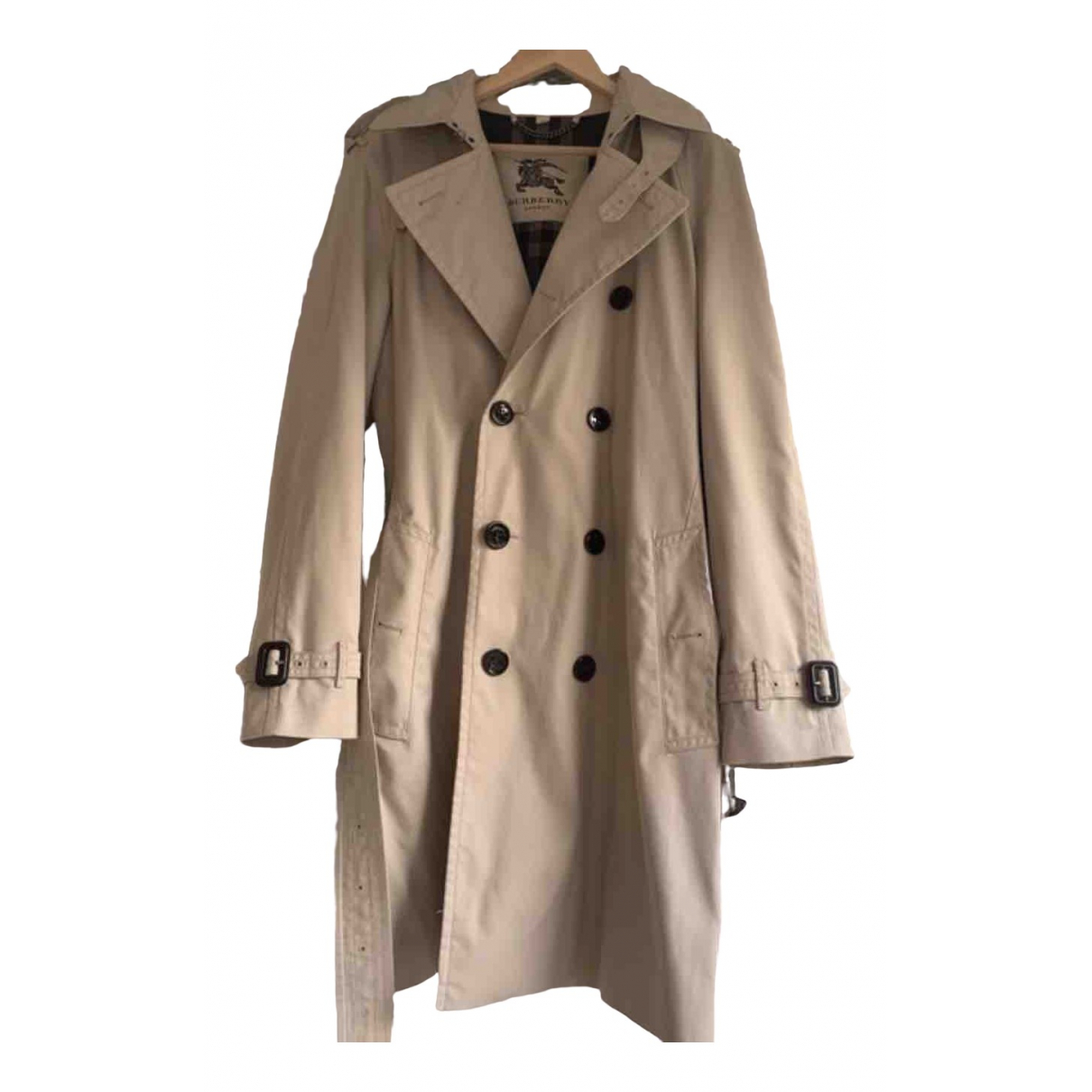 Burberry \N Beige Cotton coat  for Men 50 FR