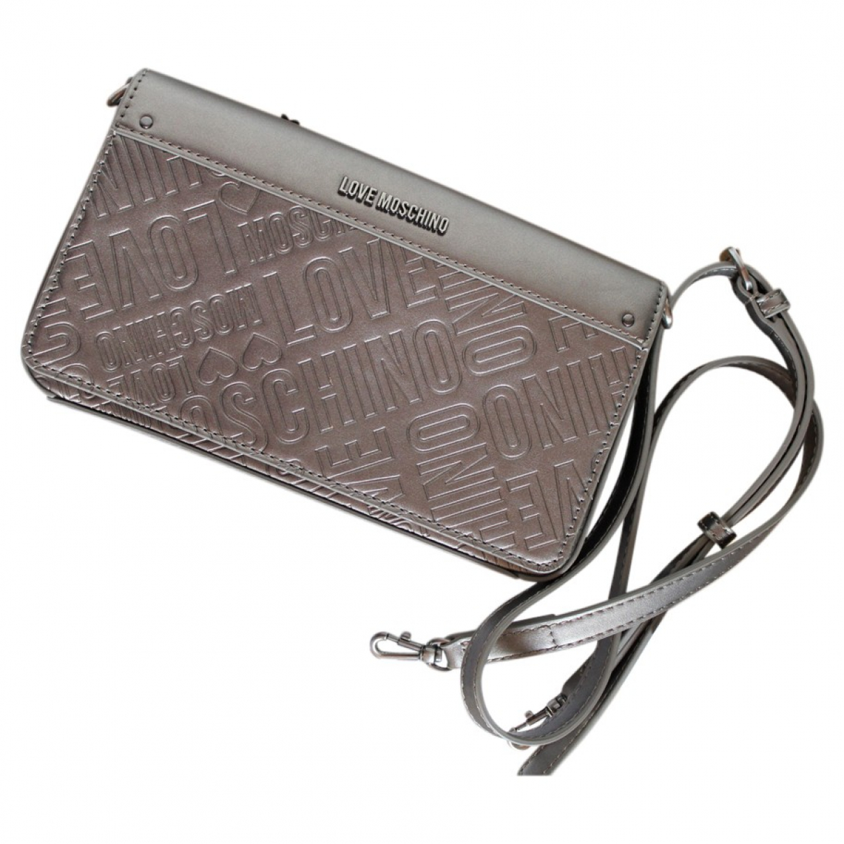 Moschino Love \N Grey Leather handbag for Women \N