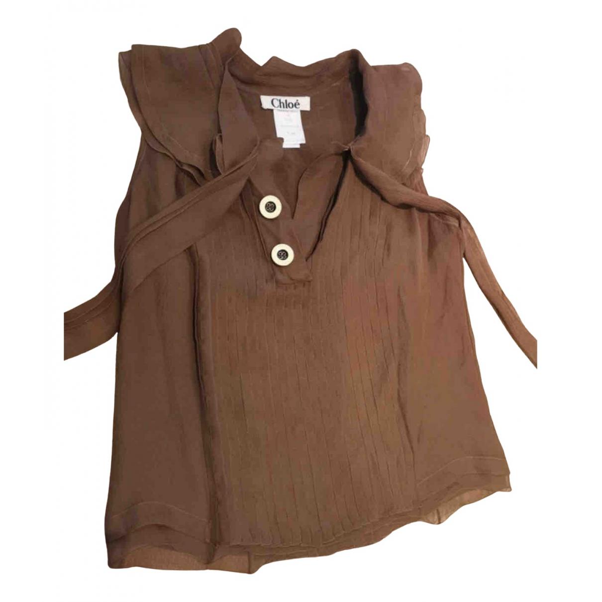 Chloé \N Brown Silk  top for Women XS International