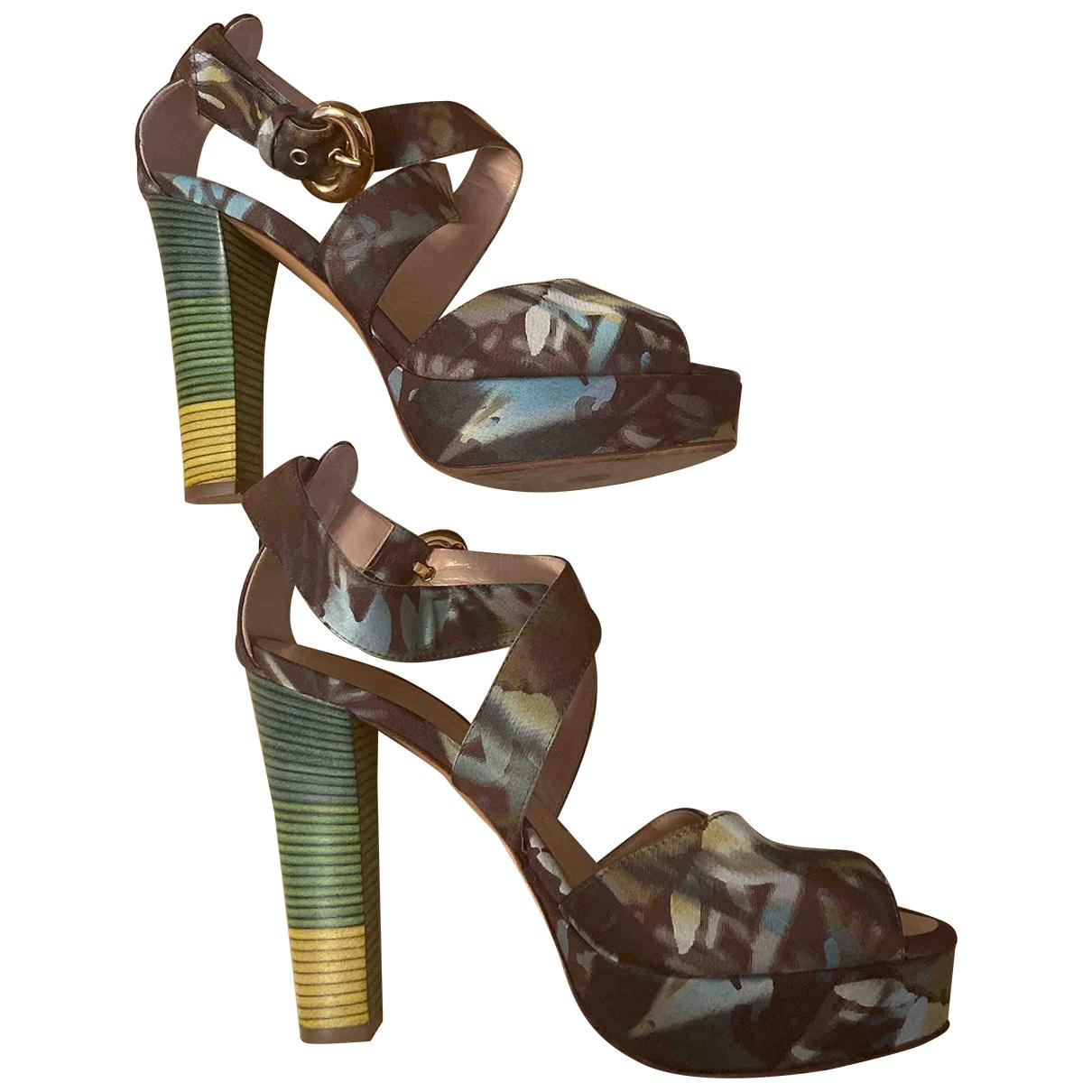 - Escarpins   pour femme en toile - vert