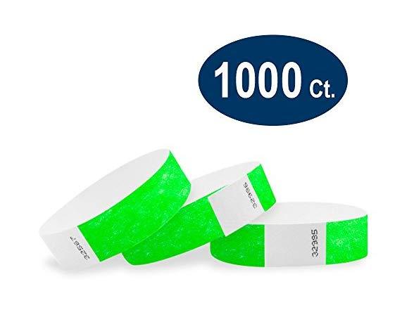 Wristco Neon Green Wristbands