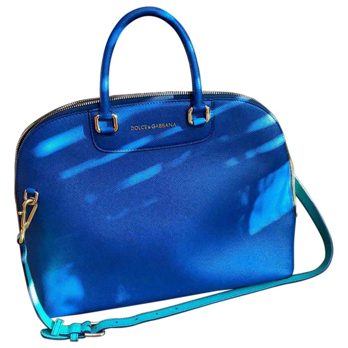 Dolce & Gabbana - Sac a main   pour femme en cuir - bleu