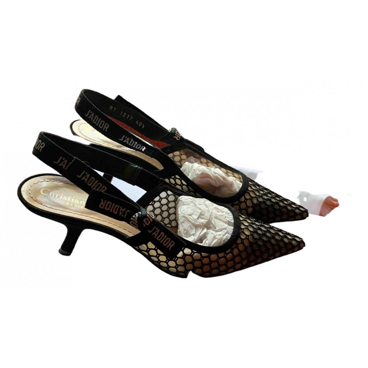 Dior - Escarpins Jadior pour femme en toile - noir