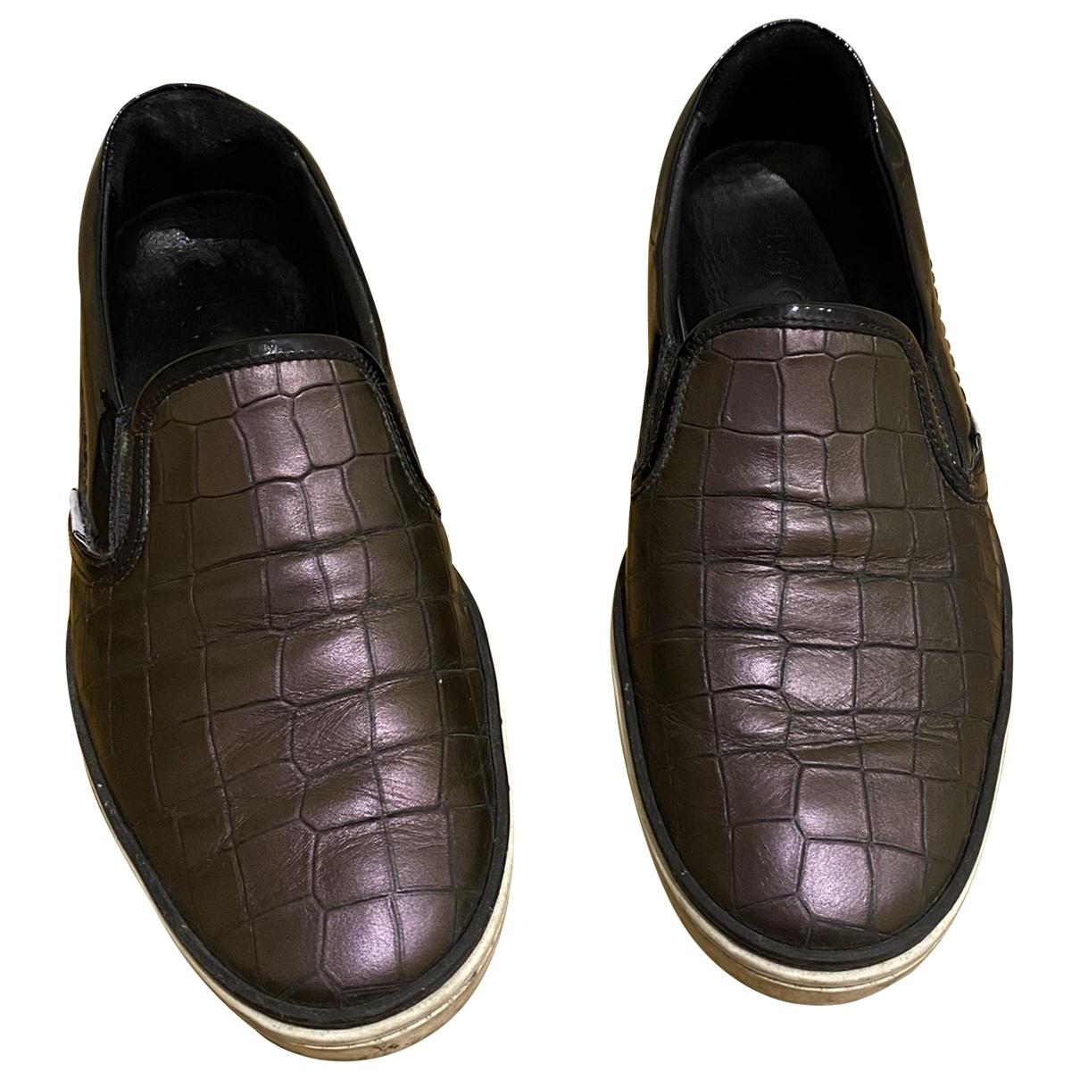Jimmy Choo - Baskets   pour homme en crocodile - violet