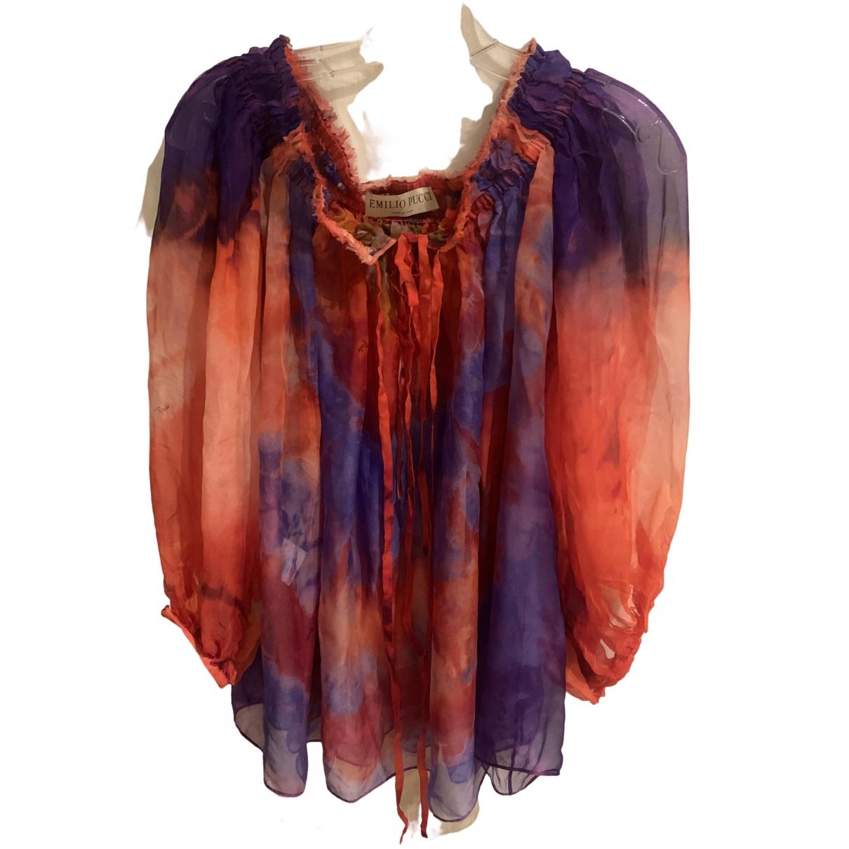 Emilio Pucci \N Multicolour Silk  top for Women 0 0-5