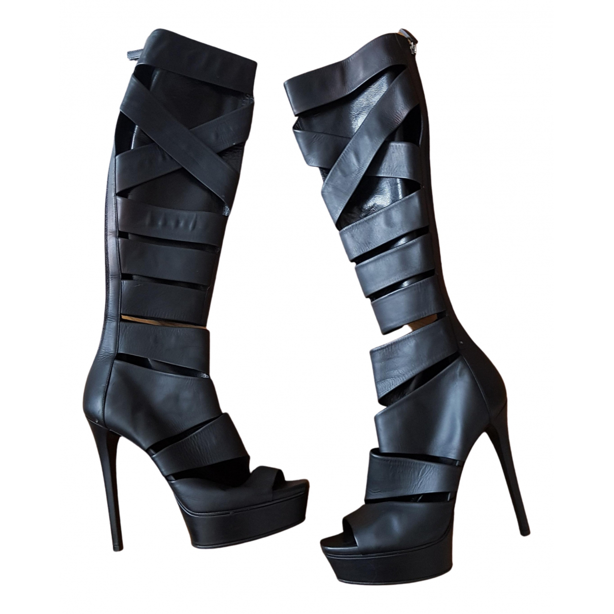 Gucci \N Black Leather Boots for Women 38 EU