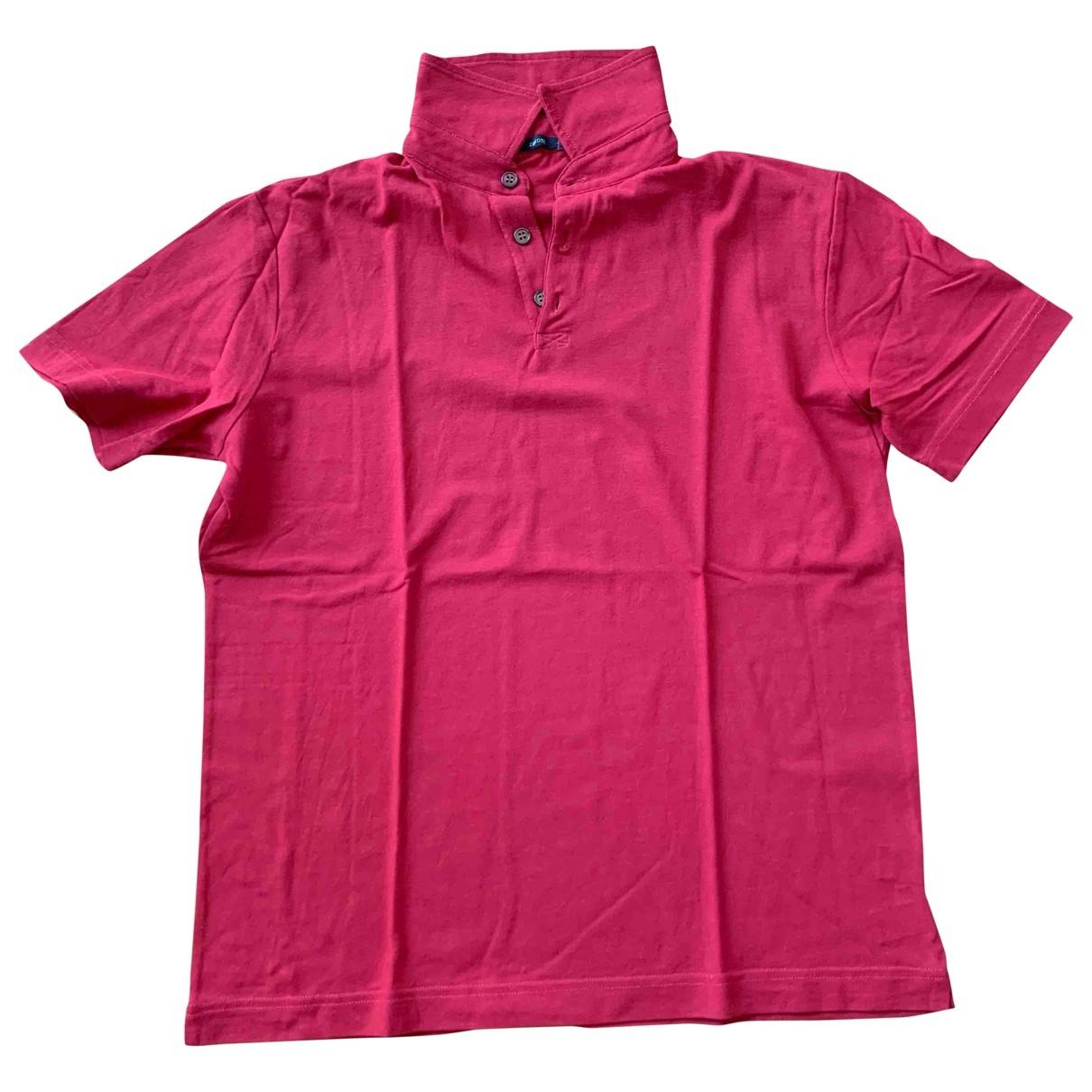 Zanone - Polos   pour homme en coton - rouge