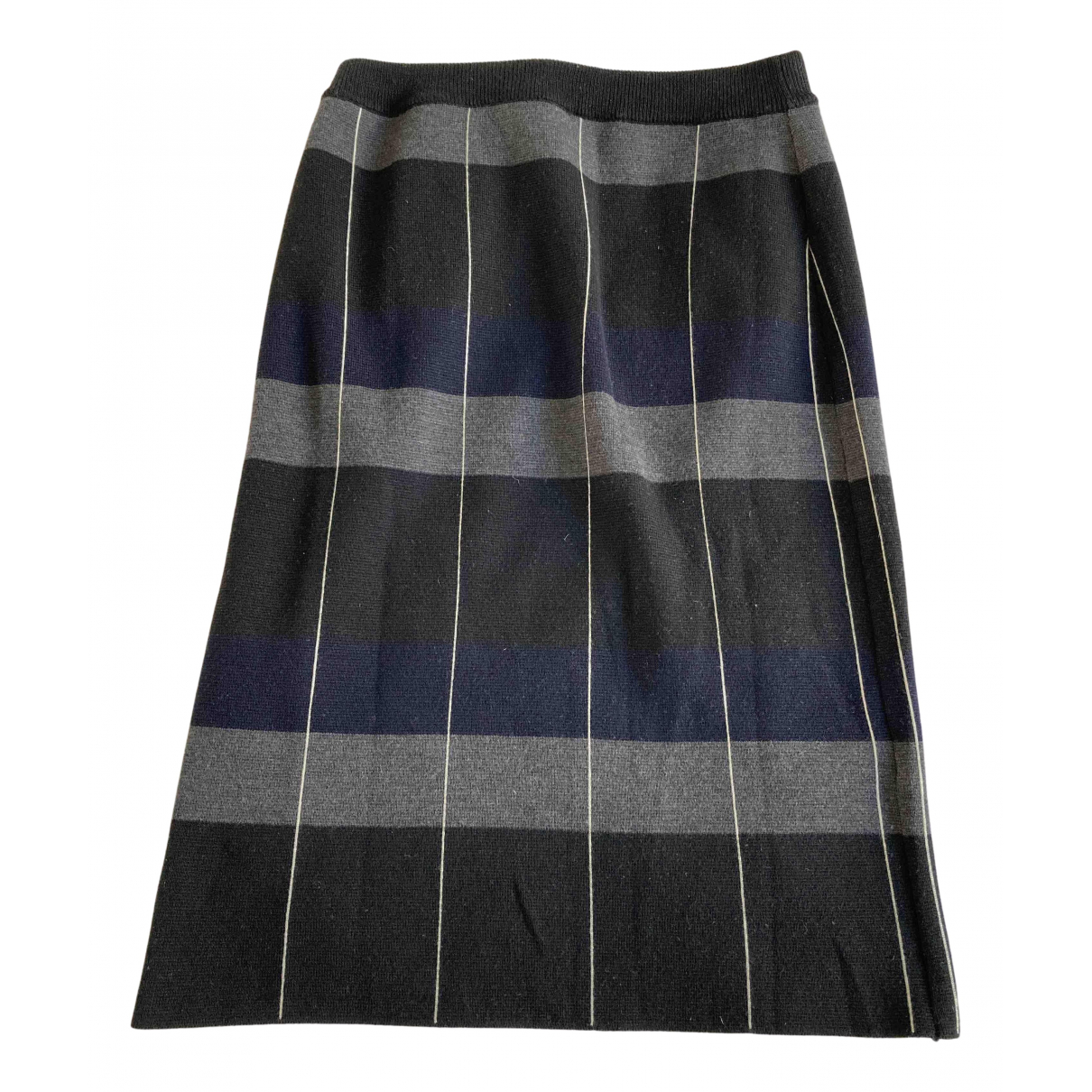Marni N Anthracite Wool skirt for Women 42 IT
