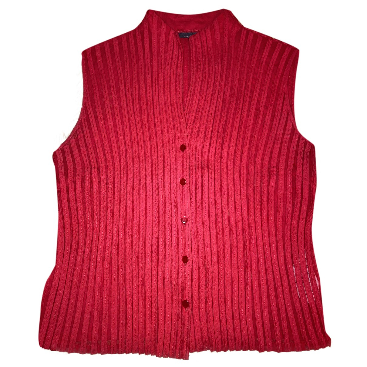 Adolfo Dominguez - Top   pour femme en coton - rouge