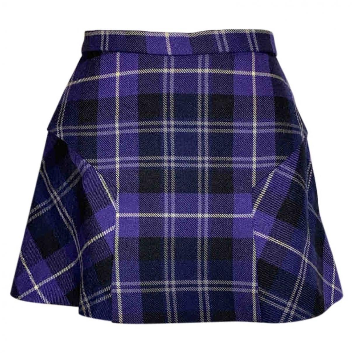 Vivienne Westwood \N Purple Wool skirt for Women 12 UK