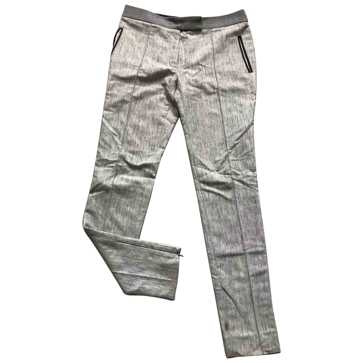 Balenciaga \N Grey Wool Trousers for Women 36 FR