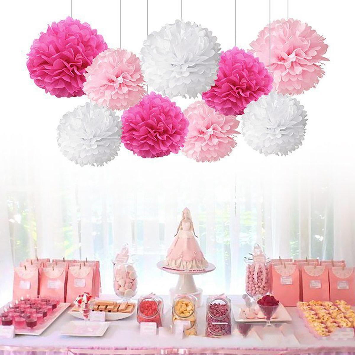 Tissue Paper Pom Poms Flower Balls For Wedding Party Car Decoration DIY Craft Paper Flower Balls