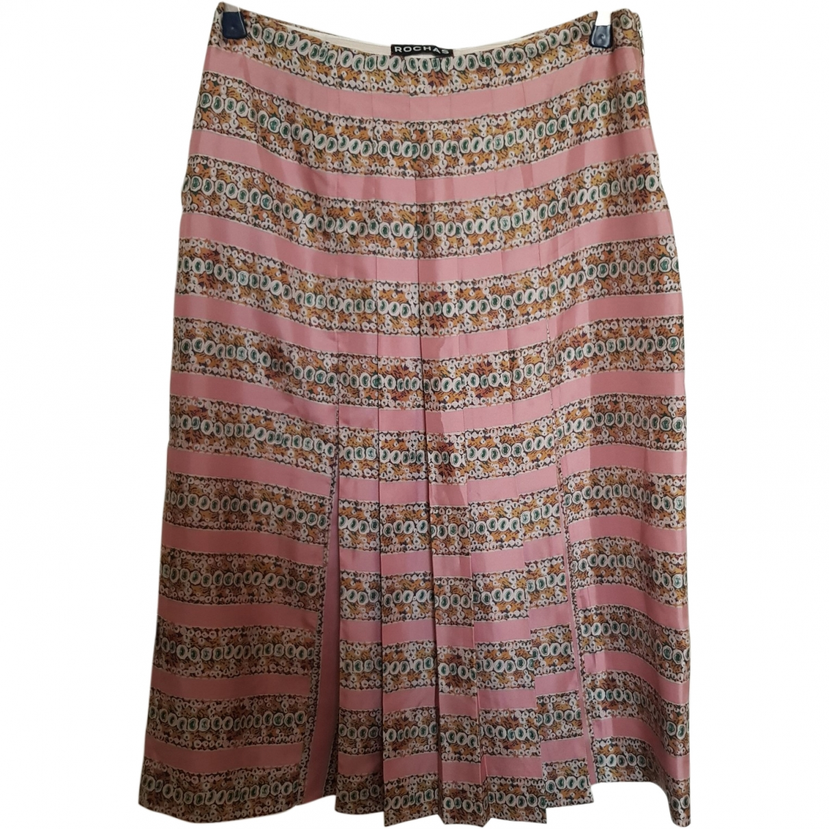 Rochas \N Pink Silk skirt for Women 44 IT