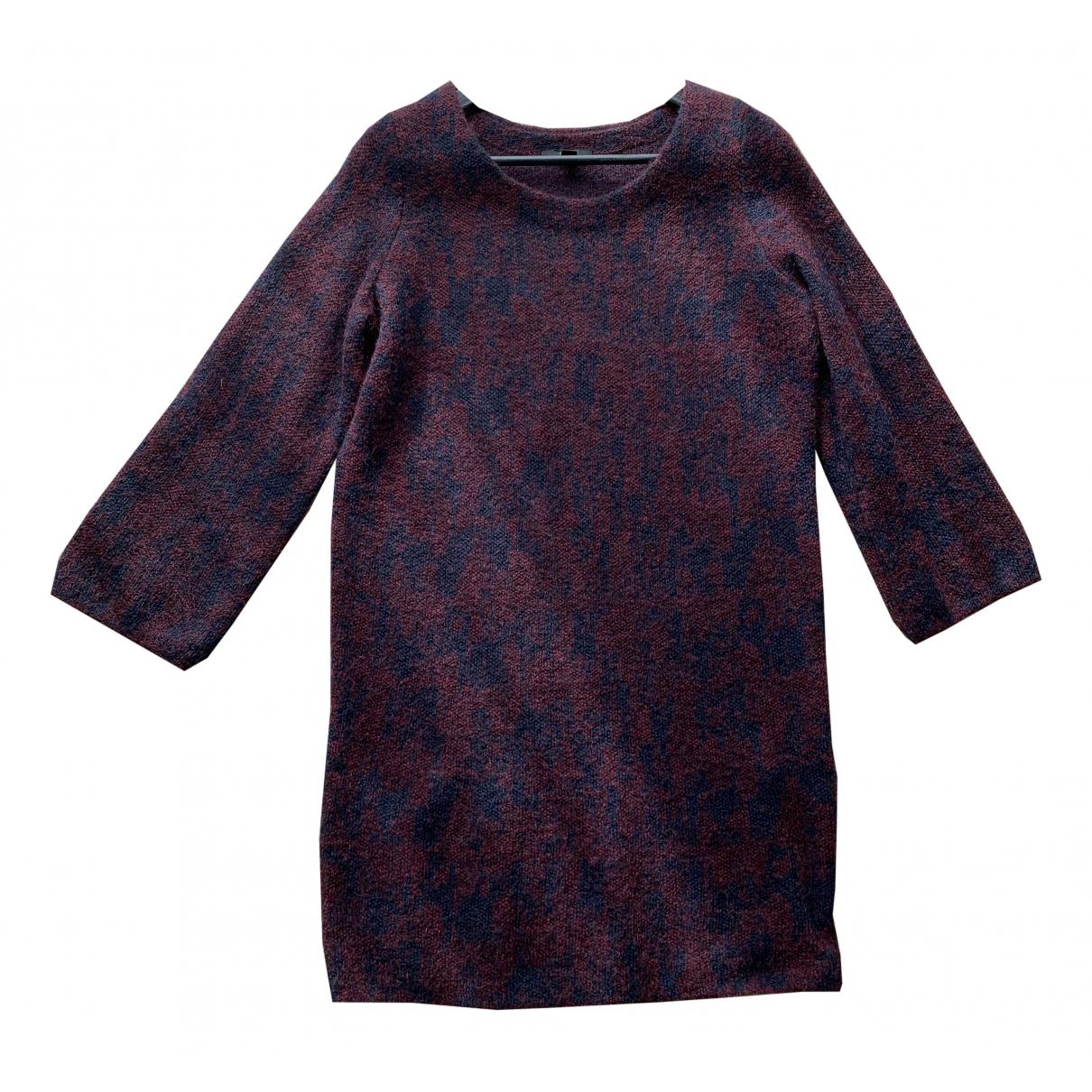 Cos \N Kleid in  Bordeauxrot Wolle