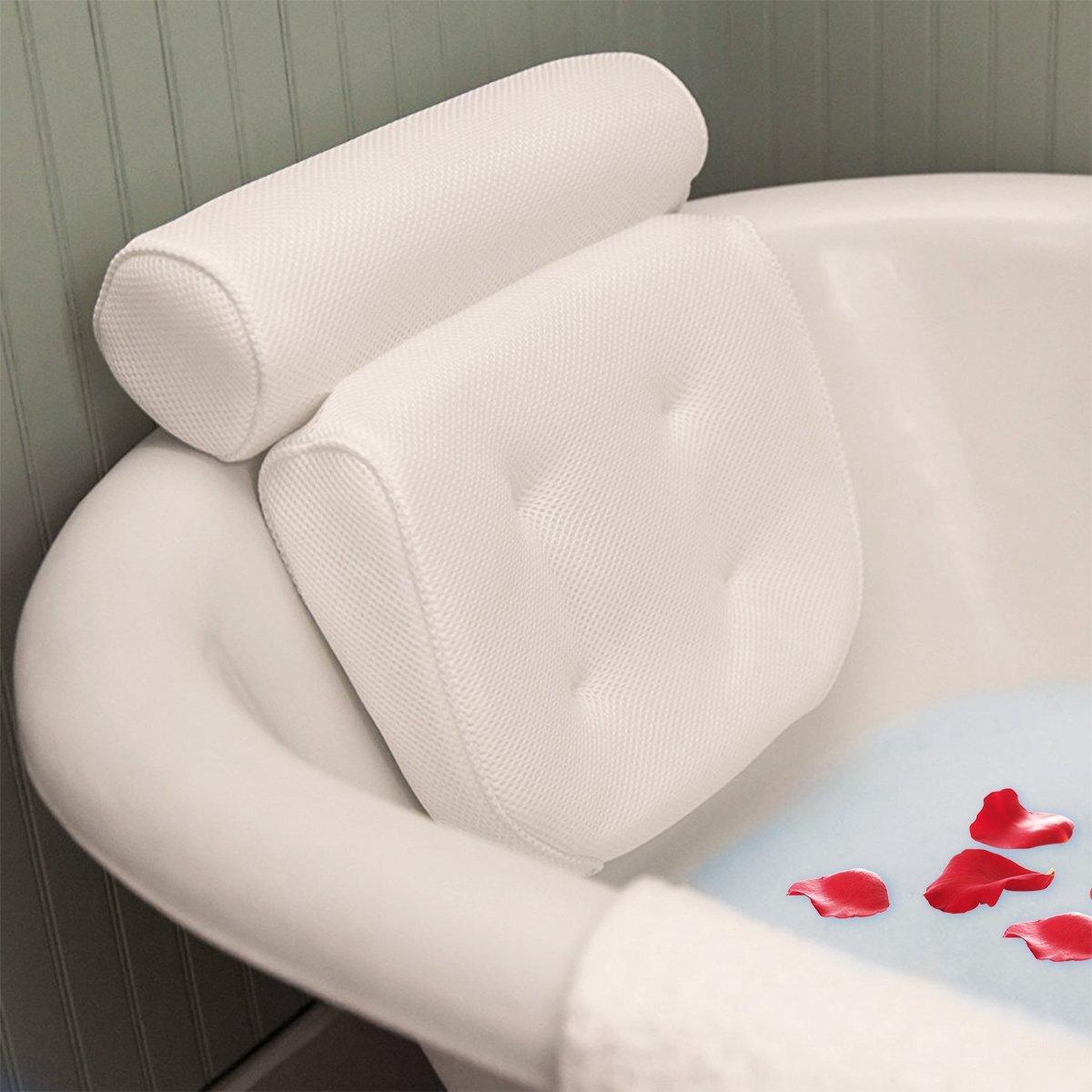 Thickened Bath Tub Pillow SPA Soft Headrest Bathtub Pillow With Backrest Comfortable Neck Cushion