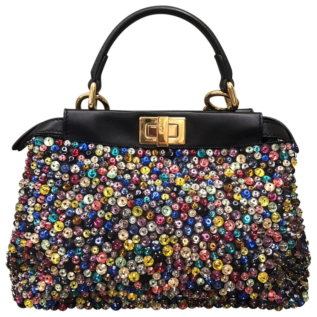 Fendi Peekaboo Handtasche in  Bunt Mit Pailletten