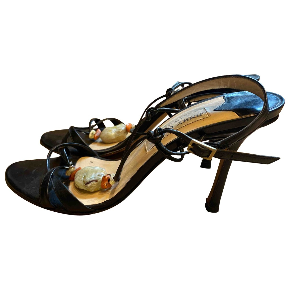 Jimmy Choo \N Black Leather Sandals for Women 37.5 EU