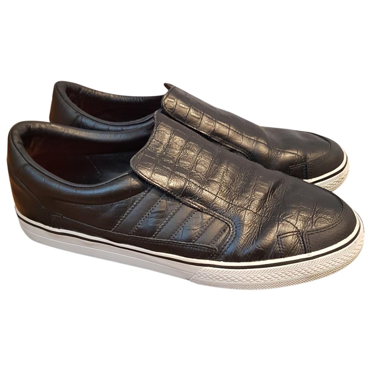 Adidas \N Sneakers in  Schwarz Leder