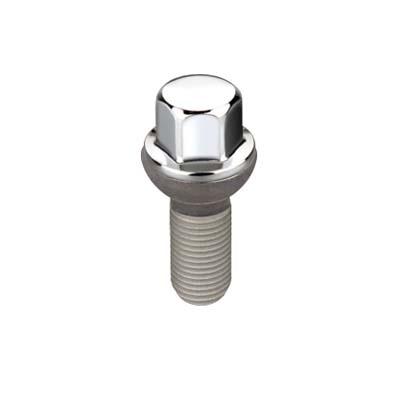 McGard 69818 Hex Lug Bolt (Radius Seat) M14X1.5 / 17mm Hex / 26.3mm Shank Length (Box of 50) - Chrome