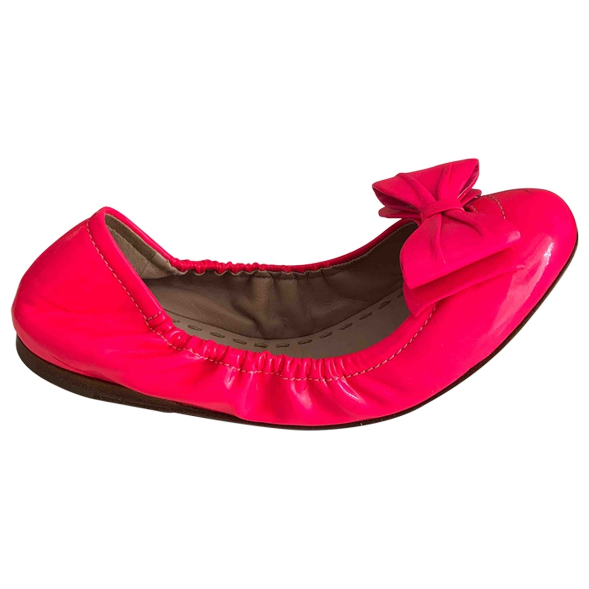 Miu Miu - Ballerines   pour femme en cuir verni - rose