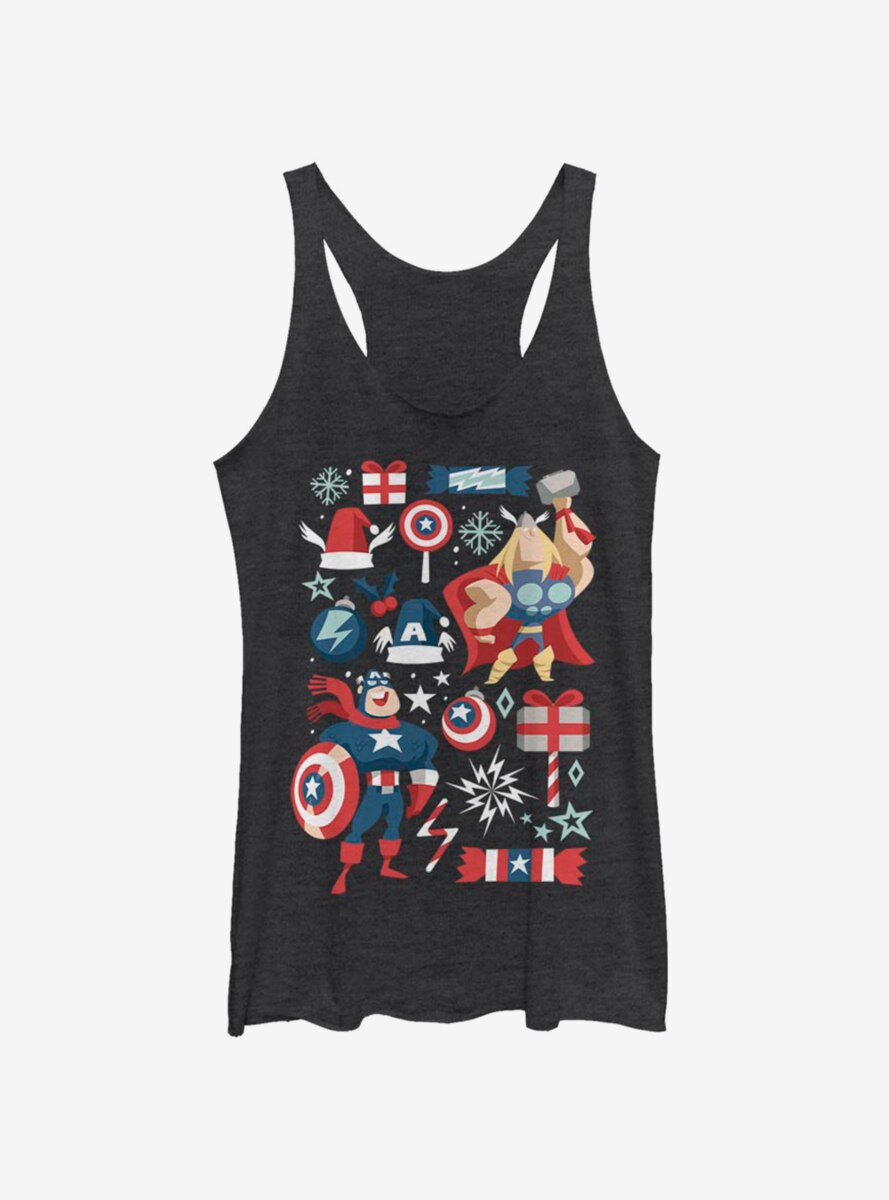 Marvel Avengers Holiday Mashup Womens Tank Top