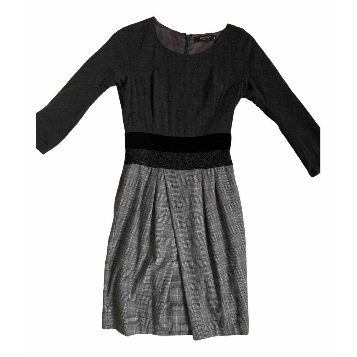 Etro - Robe   pour femme en laine - anthracite