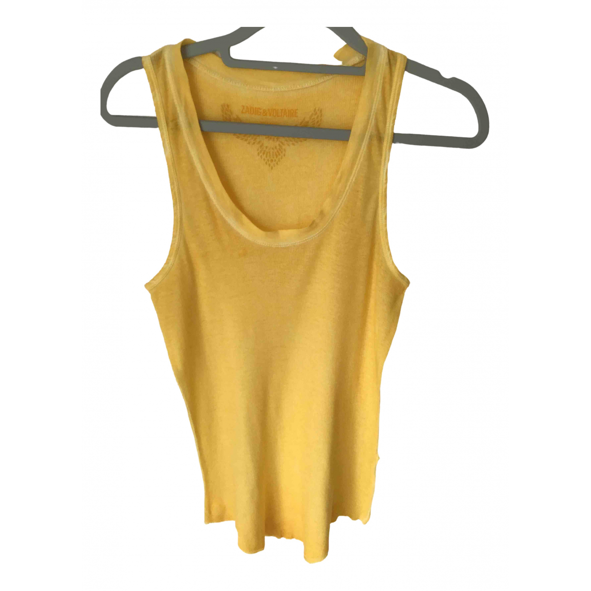 Zadig & Voltaire \N Yellow Cotton  top for Women 36 FR